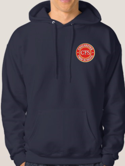 Leavers Hoodies - Front Option - Embroidery badge