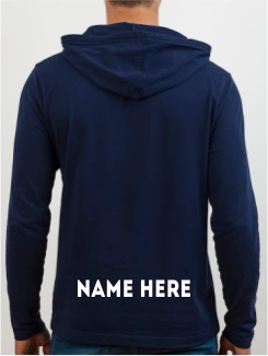 Leavers Hoodies - Addtional Extra - Name/Nickname on Rear *Below the Leavers Design