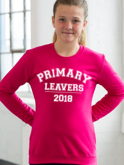 Primary School Leavers Hoodies - Front Option - Large text print