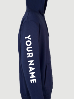 Ski Trip Hoodies - Sleeve Personalisation - Nickname/Name printed on the sleeve