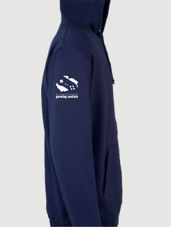 University and society hoodies - Sleeve Personalisation - Printed Logo on Sleeve