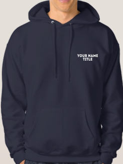 University and society hoodies - Addtional Extra - Name and Title Front