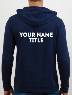 University and society hoodies - Addtional Extra - Name and Title Rear
