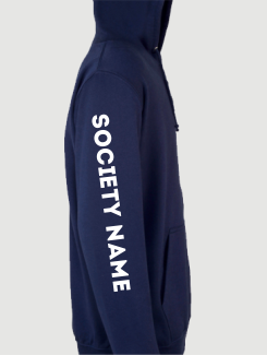 University and society hoodies - Sleeve Personalisation - Printed Society Name on Sleeve