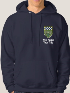 University and society hoodies - Front Option - Embroidery Badge with Name and Title