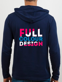 University and society hoodies - rear print - Full Colour Design/Logo