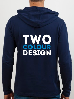 University and society hoodies - rear print - 2 Colour Design/Logo