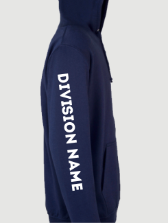 Military Hoodies and Clothing - Sleeve Personalisation - Printed Division Name on Sleeve