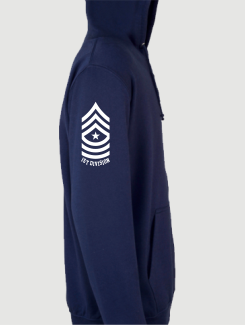 Military Hoodies and Clothing - Sleeve Personalisation - Printed Logo on Sleeve