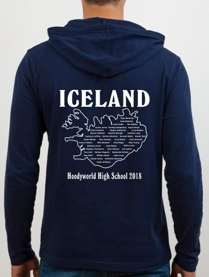 School Trip Hoodies - school trip Designs - Map Design Concept Two