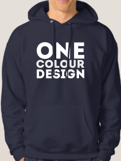 Sports and Team Hoodies - Front Option - Large Printed One Colour Logo / Design
