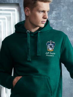 University and society hoodies - Front Option - Embroidery Badge / Embroidery Name and Title underneath