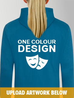 Theatre and Performing Arts - rear print - One Colour Design/Logo