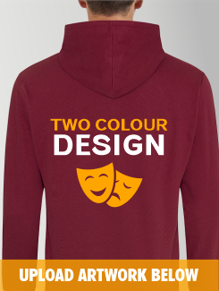 Theatre and Performing Arts - rear print - Two Colour Design or Logo