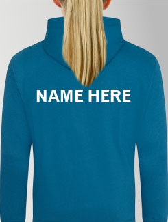 General Enquiry - Individual Personalistion - Printed name / Nickname ( Upper Rear )