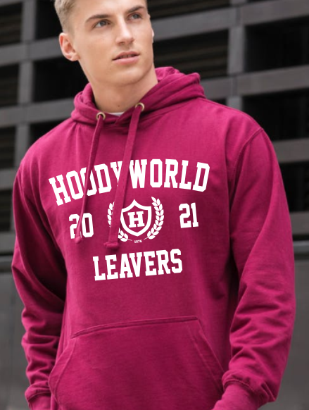 Leavers Hoodies - Front Option - Leavers Large Print 3