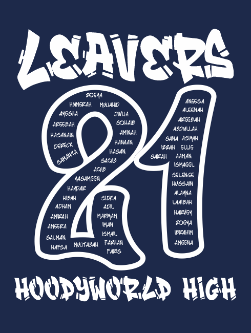 Leavers Hoodies - Leavers Page - Leavers Graffiti Design