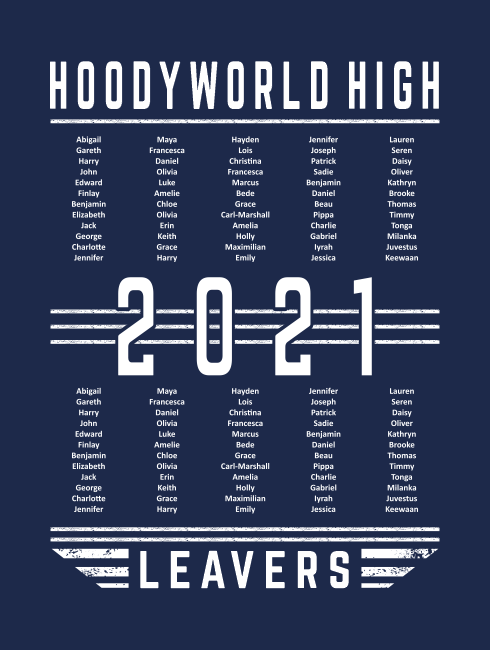 Leavers Hoodies - Leavers Page - Leavers Design List Three