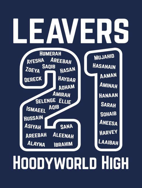 Leavers Hoodies - Leavers Page - Leavers Tilted Names Design