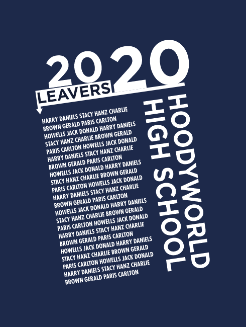 Leavers Hoodies - Leavers Page - Leavers List Design One