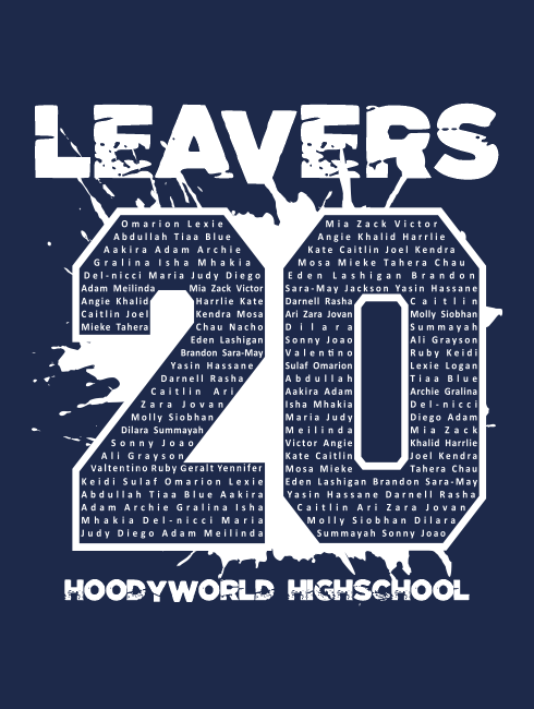 Leavers Hoodies - Leavers Page - Leavers Paint Splash