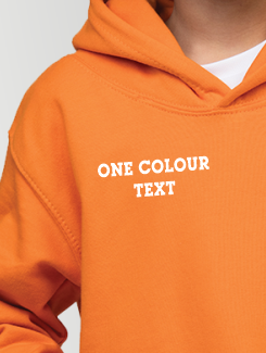 Primary School Leavers Hoodies - Addtional Extra - One Colour Text on the Front