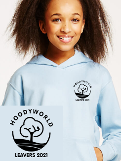Primary School Leavers Hoodies - Front Option - One colour printed badge