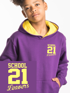 Primary School Leavers Hoodies - Front Option - Small Leavers Text Print
