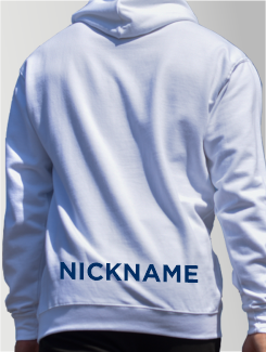 School Trip Hoodies - Addtional Extra - Printed Name on the Lower Rear