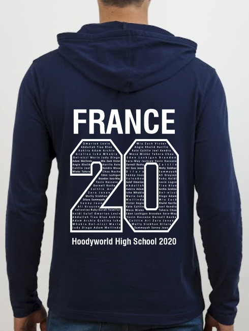 School Trip Hoodies - school trip Designs - France Number Design