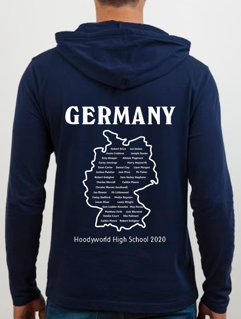 School Trip Hoodies - school trip Designs - Germany Map Design