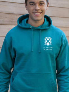 School Trip Hoodies - Front Option - Printed One Colour Badge or Logo