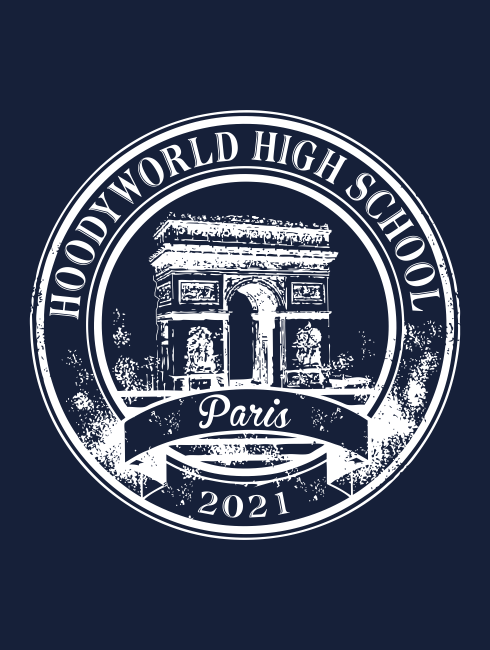 School Trip Hoodies - school trip Designs - France Arc de Triomphe Design