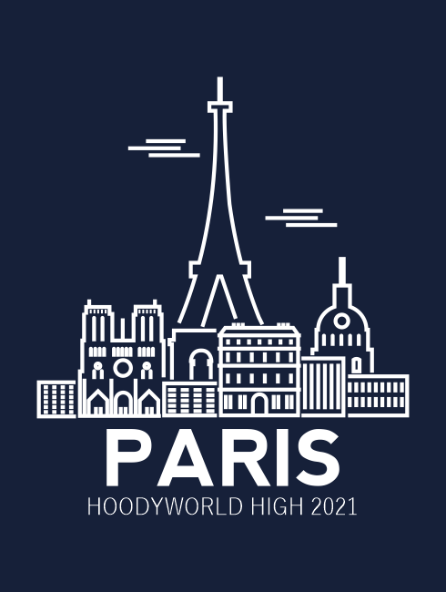 School Trip Hoodies - school trip Designs - Paris Skyline Design