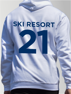 Ski Trip Hoodies - Individual Personalisation - Ski Resort and Year on the rear