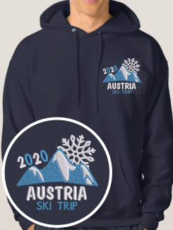 Ski Trip Hoodies - Embroidery - Hoodyworld Embroidery Logo 8