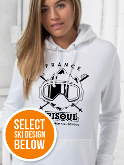 Ski Trip Hoodies - Front Option - Large Printed ski Design on the front