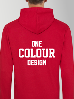 University and society hoodies - rear print - 1 Colour Design/Logo