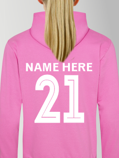 General Enquiry - Individual Personalistion - Printed Name / Number Rear