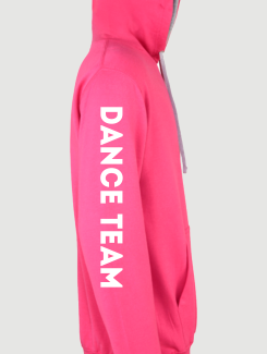 Dance Hoodies and Clothing - Sleeve Personalisation - Printed Dance Club Name Sleeve