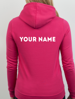 Dance Hoodies and Clothing - Addtional Extra - Printed Name or Nickname Rear