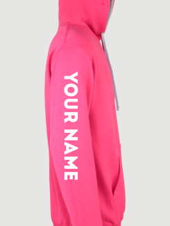 Dance Hoodies and Clothing - Sleeve Personalisation - Printed Name or Nickname Sleeve