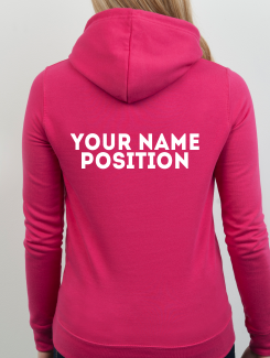 Dance Hoodies and Clothing - Addtional Extra - Printed Name or Nickname and Position Rear