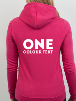 Dance Hoodies and Clothing - rear print - One Colour Text. The same on all garments