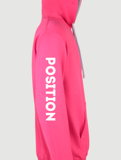 Dance Hoodies and Clothing - Sleeve Personalisation - Printed Position on Sleeve
