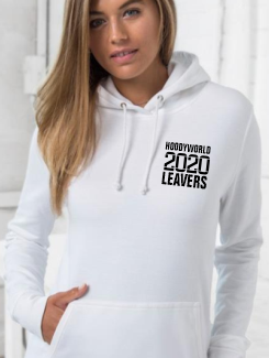 Leavers Hoodies - Front Option - Small Text Design on the front