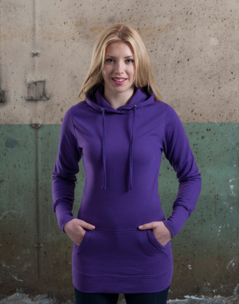 Ladies Longline Hoody