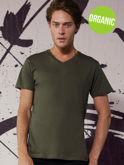 B&C V Neck Organic Men's T-Shirt