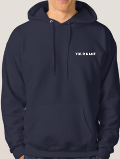 University and society hoodies - Addtional Extra - Name or Nickname on the Front