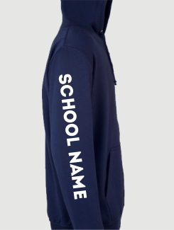 Primary School Leavers Hoodies - Sleeve Personalisation - Printed school name on sleeve